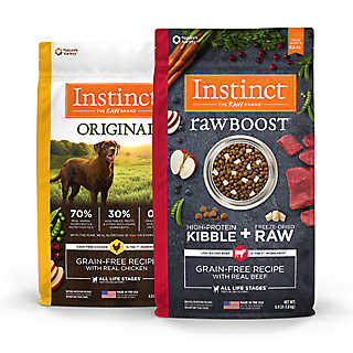 Available in cans or pouches, Instinct makes it easy to add more protein and variety to every meal.
