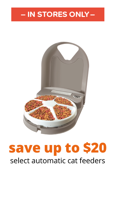 save up to $20 select automatic cat feeders