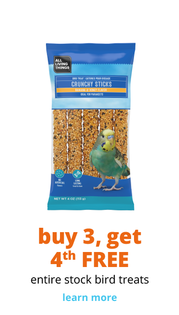 Buy 3, Get the 4th free entire stock bird treats