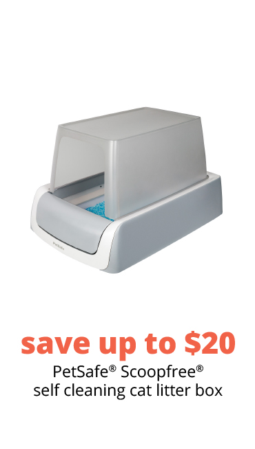 save up to $20 PetSafe® Scoopfree® self cleaning cat litter box