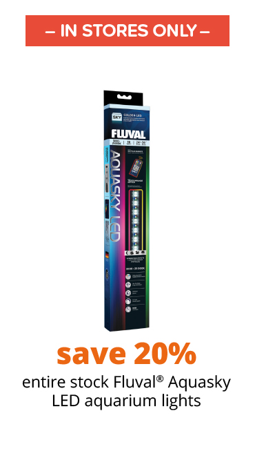 save 20% all Fluval® Aquasky LED aquarium lights