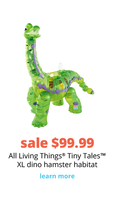 sale $99.99 All Living Things® Tiny Tales™ XL dino hamster habitat