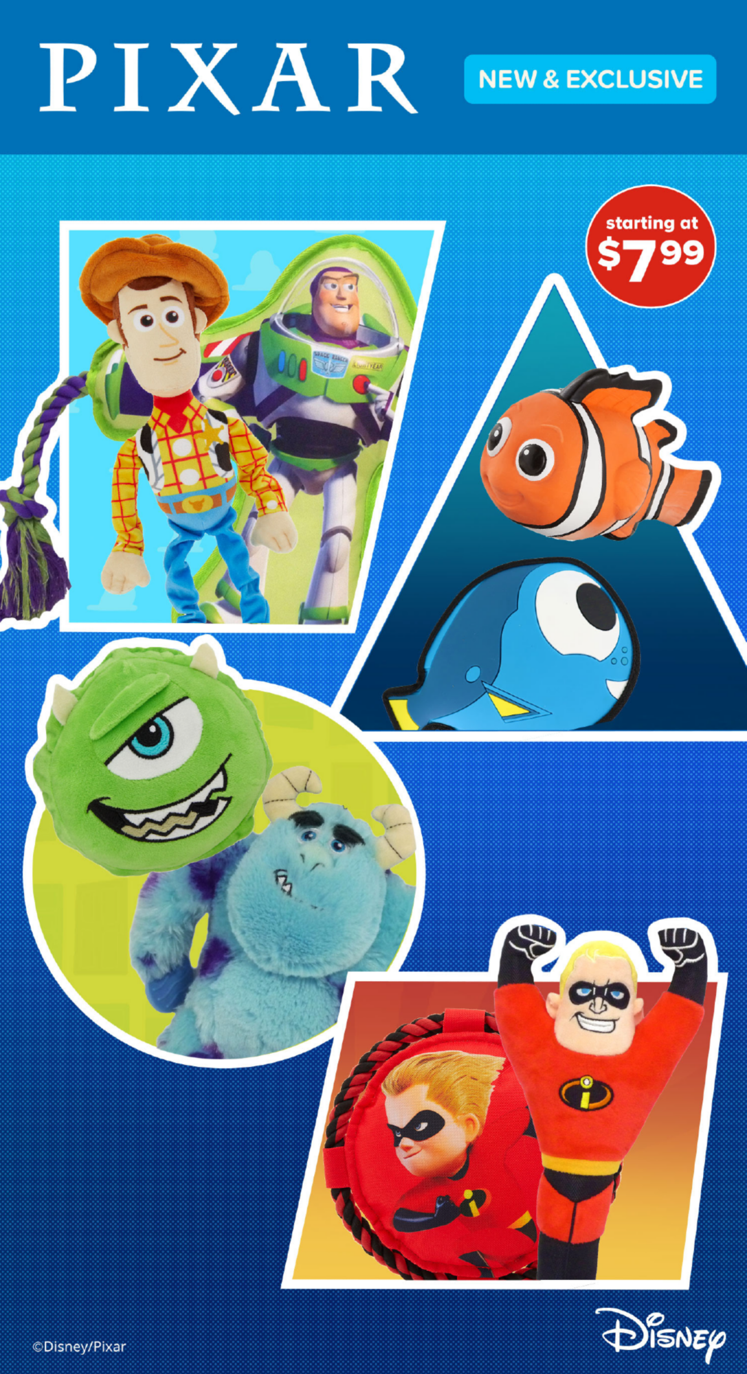 Pixar NEW & EXCLUSIVE starting at $7.99 Disney