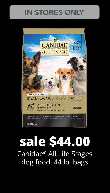 sale $44.00 Canidae® All Life Stages dog food, 44 lb. bags