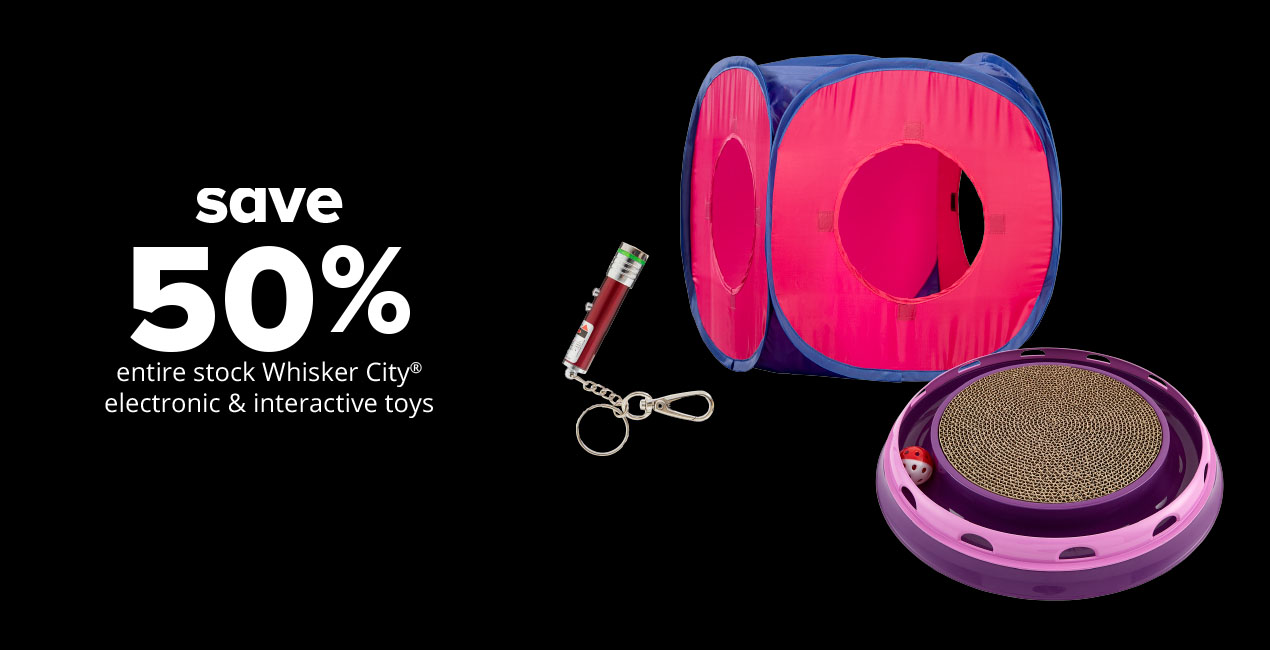 save 50% entire stock electronic & interactive cat toys