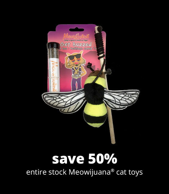 save 50% entire stock Meowijuana® cat toys