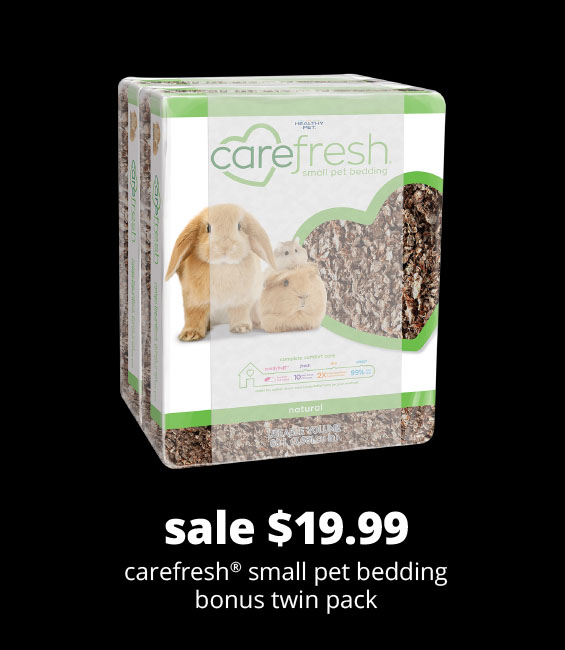 sale $19.99 carefresh® small pet bedding bonus twin pack