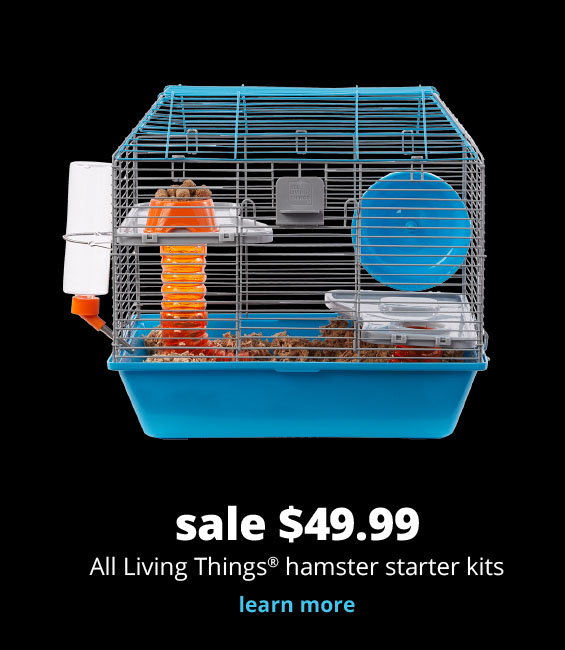 sale $49.99  All Living Things®  hamster starter kits