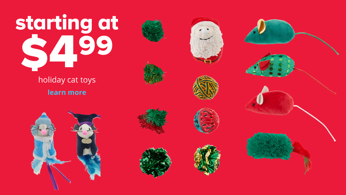 starting at $4.99	 holiday cat toys
