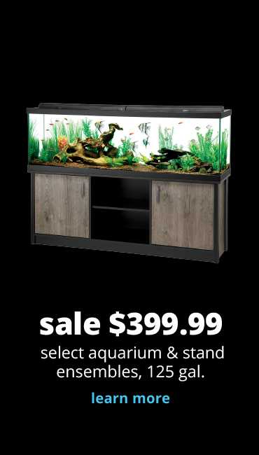 sale $399.99 select aquarium & stand ensembles, 125 gal.