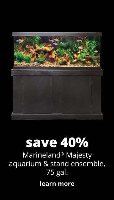 save 40%	Marineland® Majesty aquarium & stand ensemble, 75 gal.