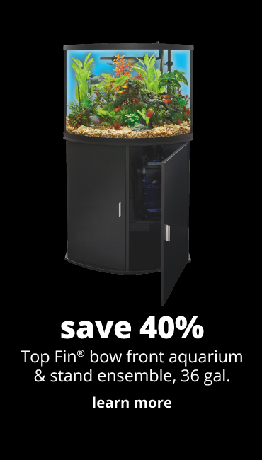 save 40%	Top Fin® bow front aquarium & stand ensemble, 36 gal.