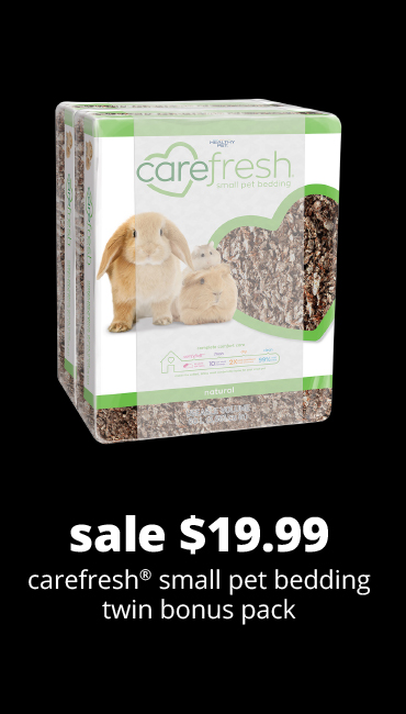 sale $19.99	carefresh® small pet bedding twin bonus pack