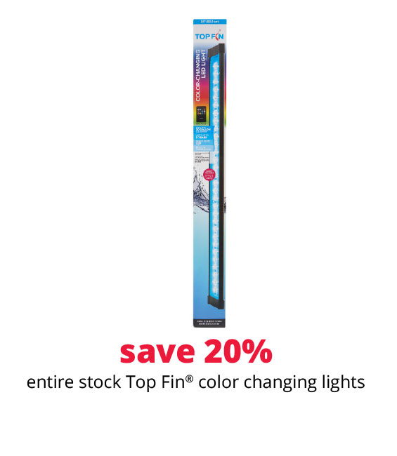 save 20% entire stock Top Fin® color changing lights