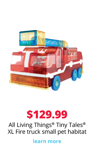 sale $99.99 All Living Things® Tiny Tales® XL Fire Truck small pet habitat