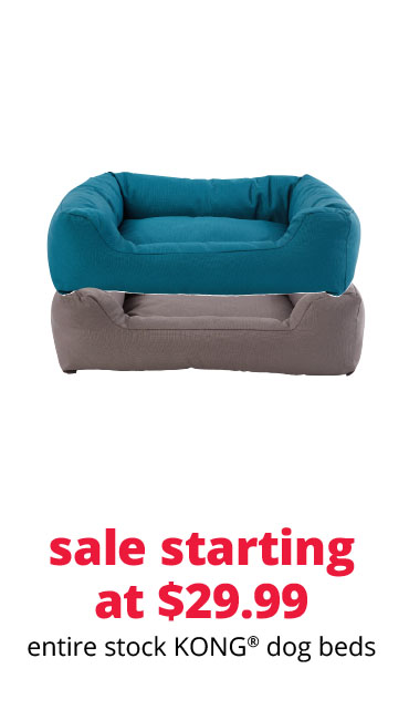 sale starting at $29.99 entire stock KONG® dog beds