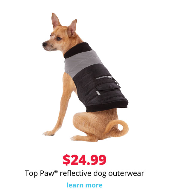 $24.99 Top Paw® reflective dog outerwear
