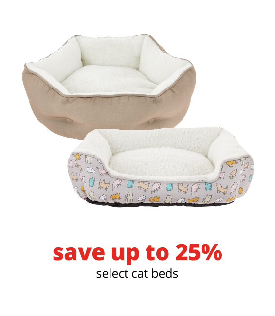 save up to 25%	select cat beds