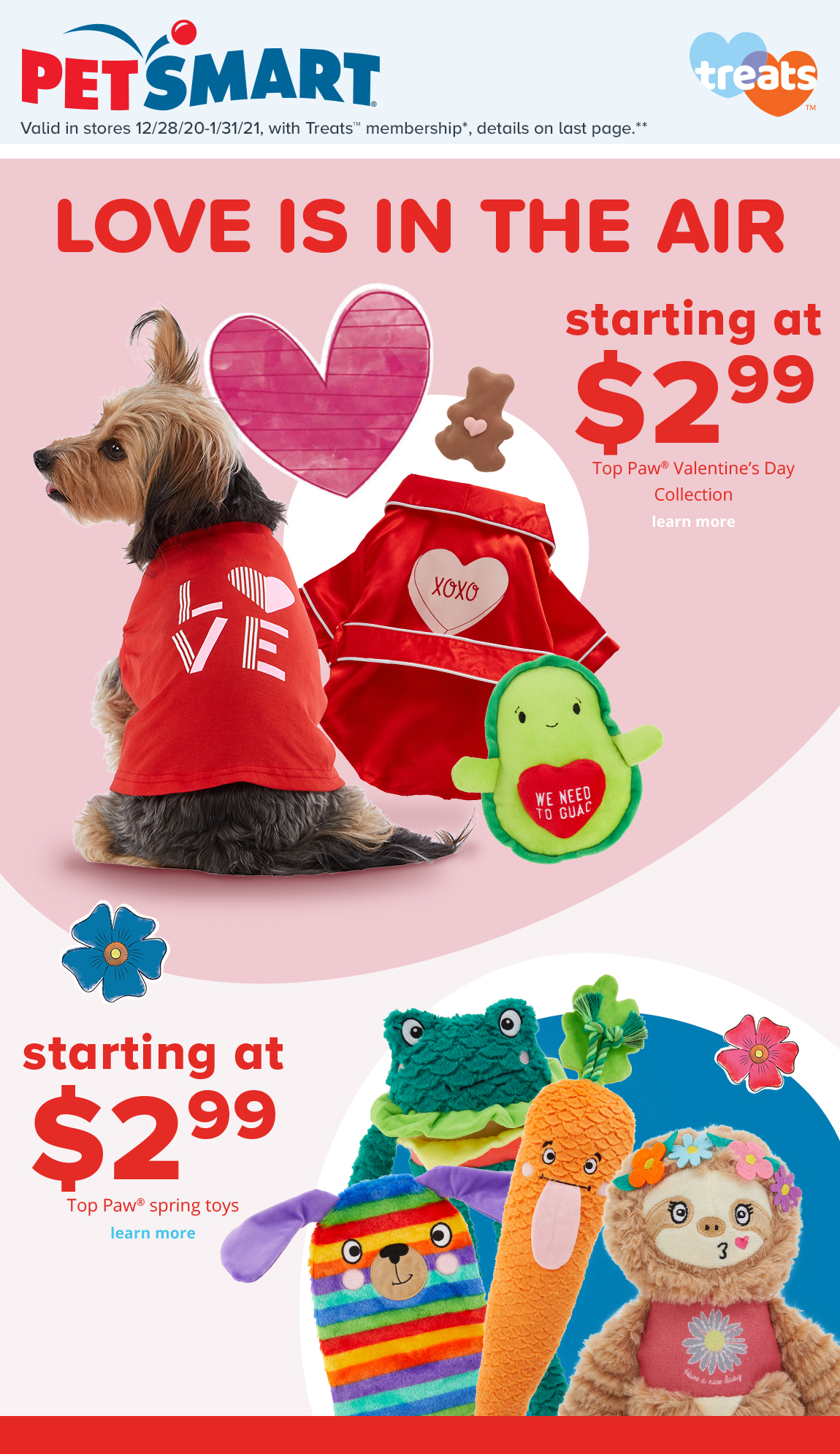 starting at $2.99	Top Paw® Valentine's Day Collection