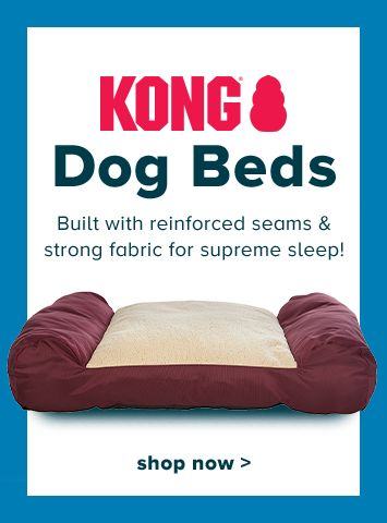 (KONG® logo) Dog Beds - Built with reinforced seams & strong fabric for supreme sleep! shop now >