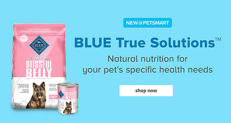 BLUE True Solutions™ - Natural nutrition for your pet's specific health needs. shop now