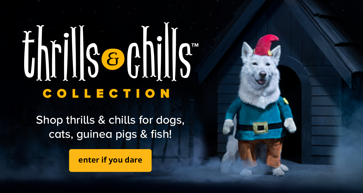 Shop thrills & chills for dogs, guinea pigs and more!