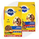 sale $24.99 select Pedigree® dog food, 46.8-50 lb. bags                                     Updated price: $25.99