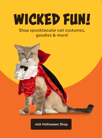 Shop Cat Halloween Costumes, Toys, and more!