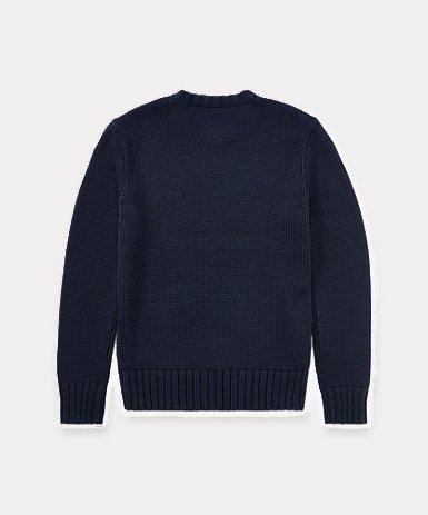フラッグ コットン クルーネック セーター