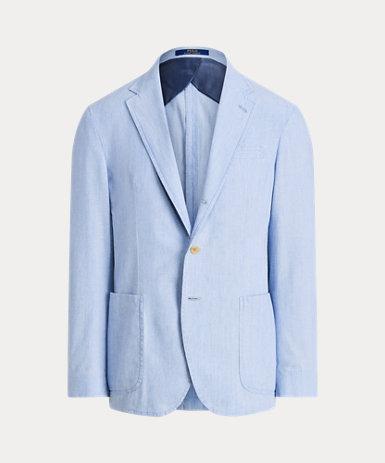 コットン シャンブレー スーツ ジャケット