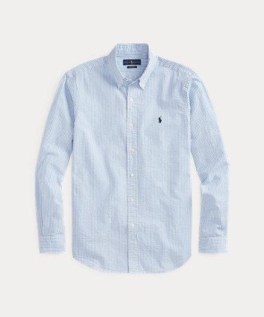 クラシックフィット ストライプドシャツ