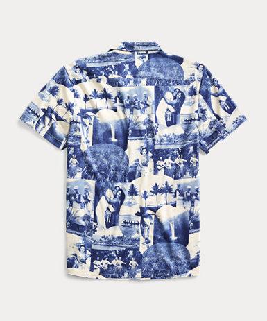 フォトプリント ジャージー キャンプシャツ