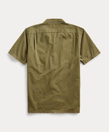ヘリンボーン ツイル キャンプシャツ