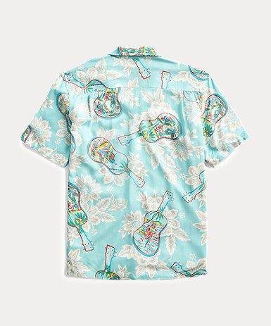 トロピカルプリント キャンプシャツ