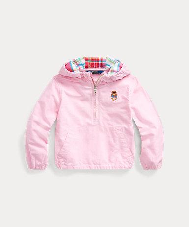 Pink Ralph Lauren Little Girls Fleece Athletic Pants