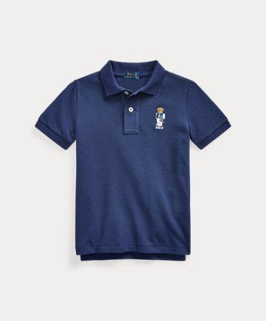 フットボール ベア コットン メッシュ ポロシャツ