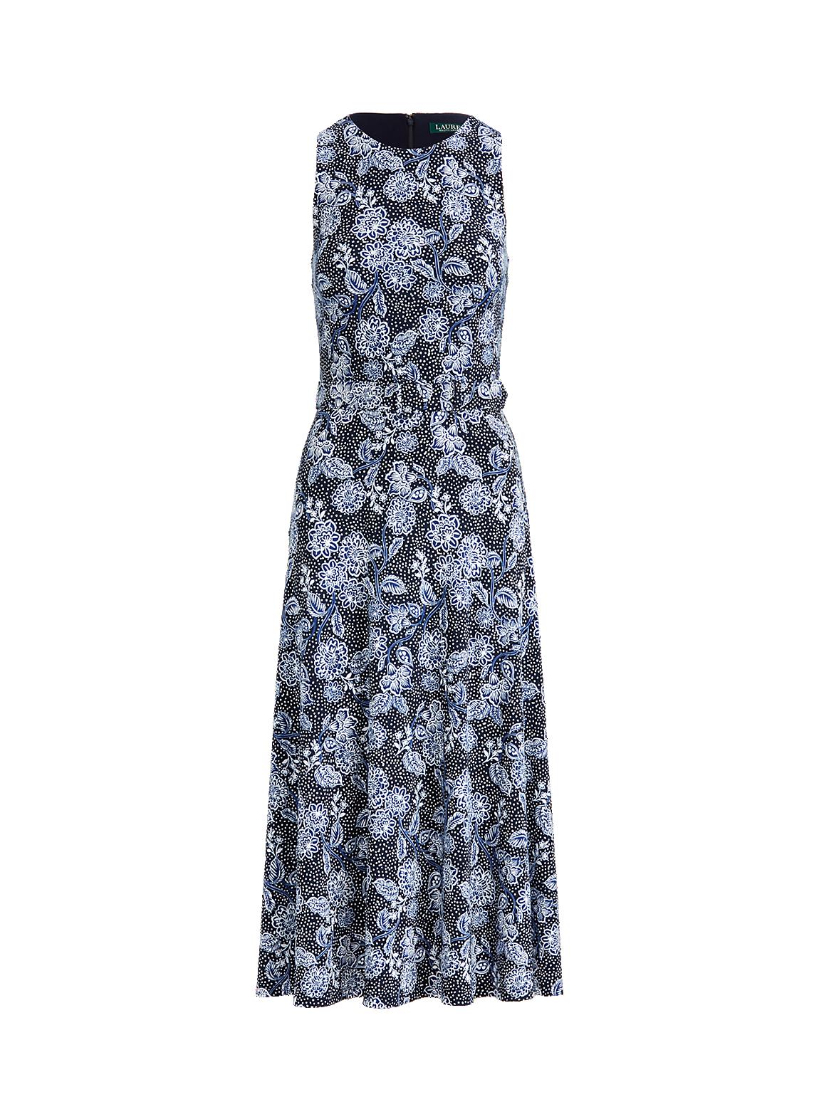 フローラル ジャージー スリーブレス ドレス