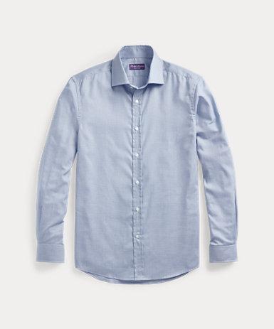 ハウンドトゥース ツイル シャツ