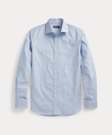 ストライプ フレンチカフ シャツ
