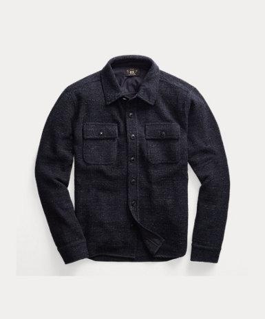 コットン ワークシャツ セーター