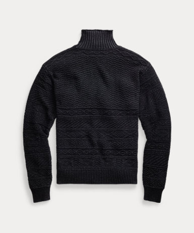 インディゴ コットン セーター