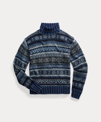 インディゴ フェアアイル セーター
