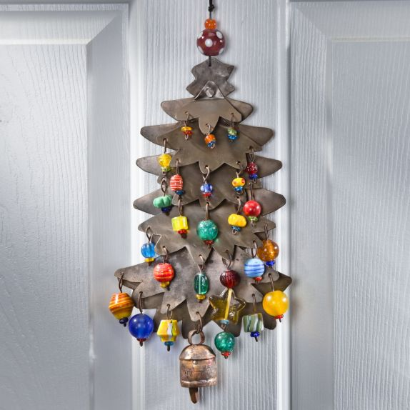hand cut iron christmas tree chime uno alla volta - Iron Christmas Tree