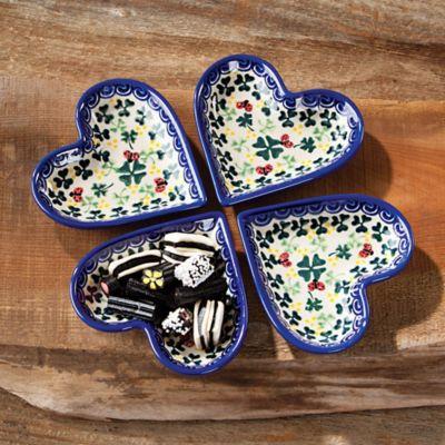 Polish Pottery Clover \u0026 Ladybug Heart Dishes   Boleslawiec Pottery   Uno Alla Volta & Polish Pottery Clover \u0026 Ladybug Heart Dishes   Boleslawiec Pottery ...