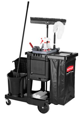 Executive Janitorial Cleaning Cart - Traditional
