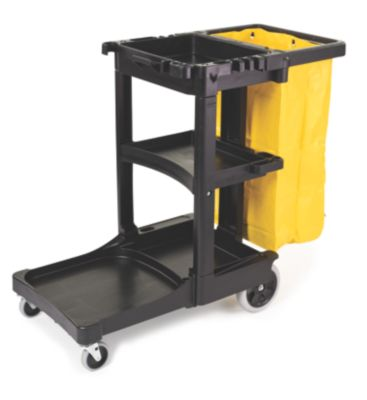6173-88 JANITOR CART BLACK REPLS 6150 & 6152 W/ ZIPPERED
