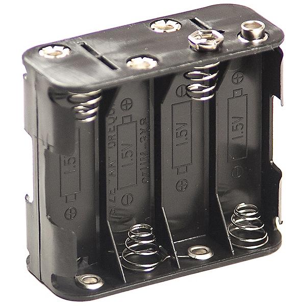 Philmore Eight AA Battery Connector with Snap Connector, , 600