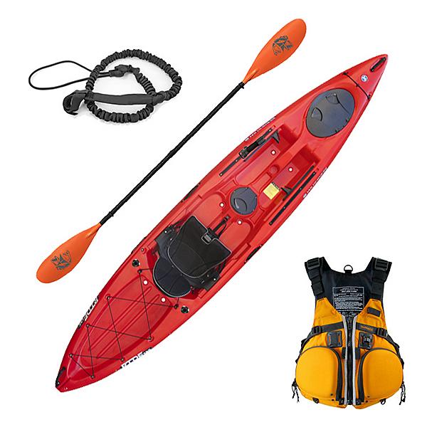 Wilderness Ride 135 ACK Angler Kayak Low Seat Fishing Package, , 600