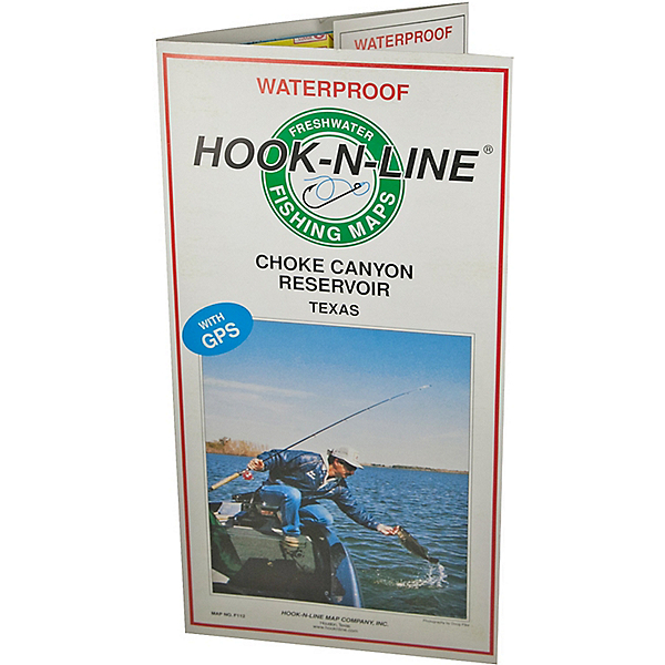 Hook-N-Line Map F112 Choke Canyon Map (With GPS) - AustinKayak on