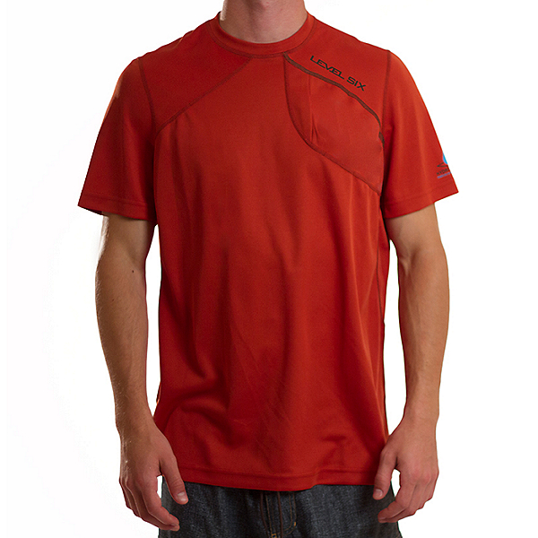 4a0dde7abd925 Level Six SUP Rider Short Sleeve Hydro Shield Shirt - Men - Clearance,  Roobios Red